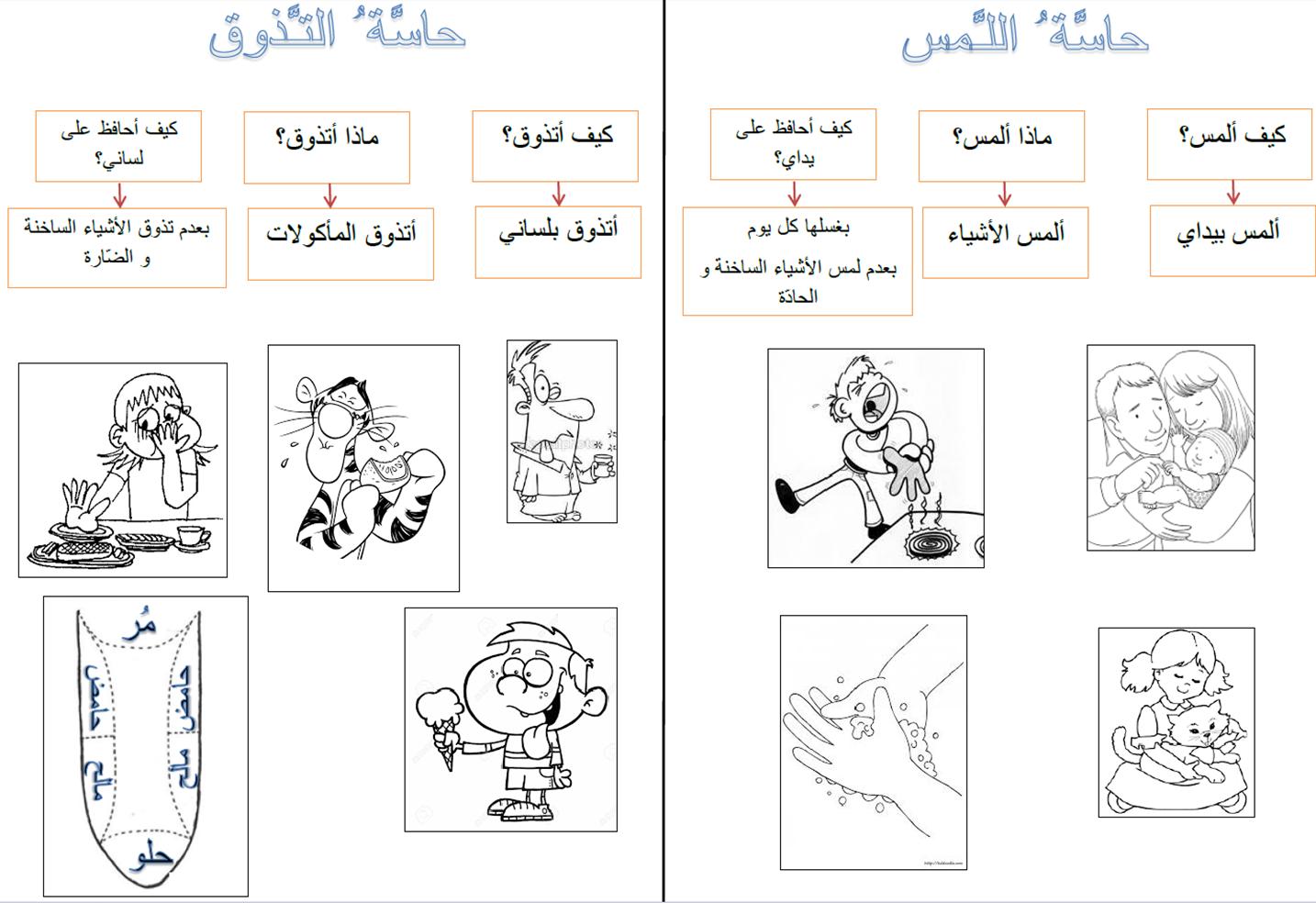 The Five Senses In Arabic Lesson Exercises P4 4 Teach Arabic Teaching Lesson [ 984 x 1434 Pixel ]