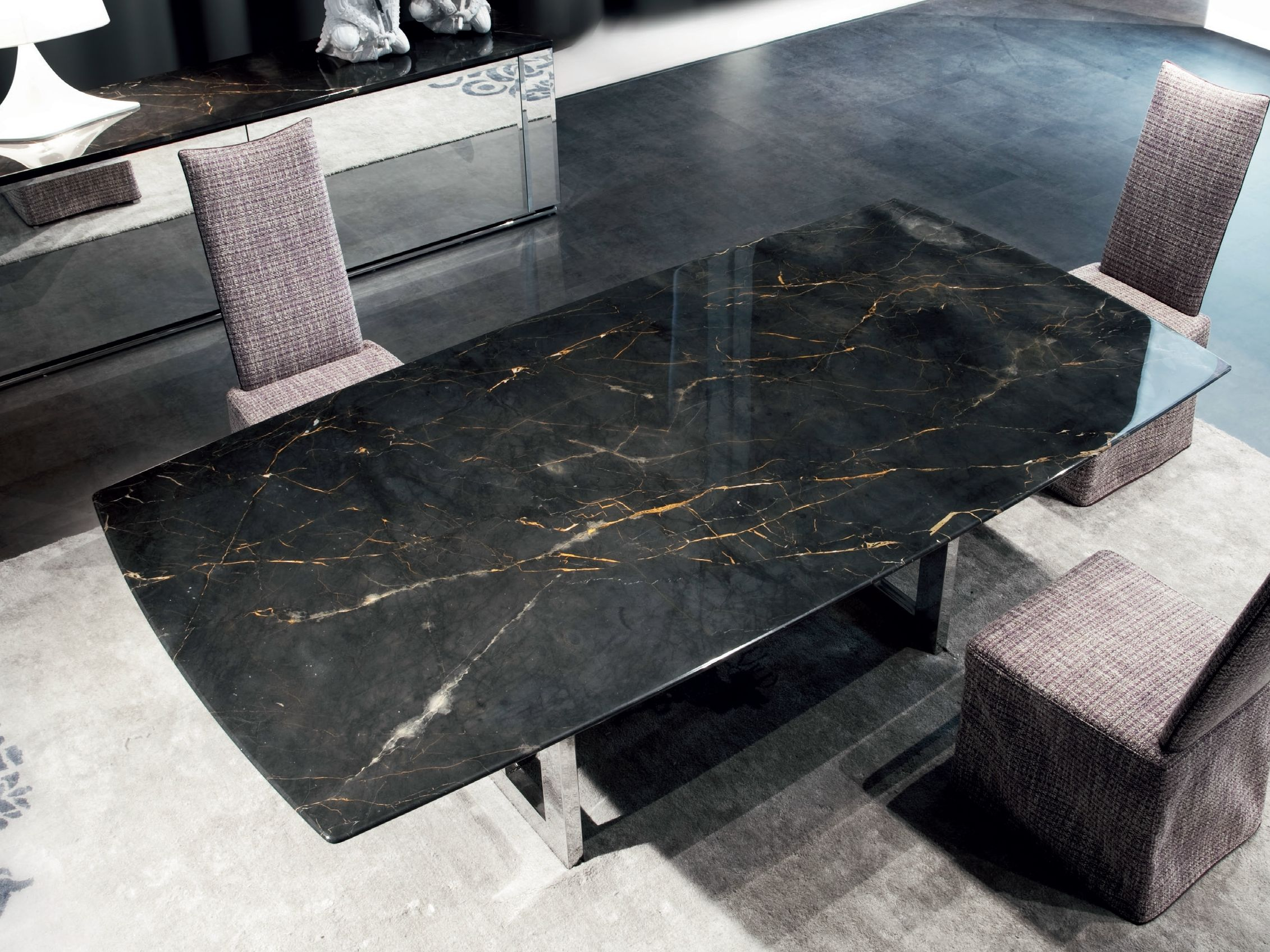 rectangular marble living room table rockcoca by erba italia