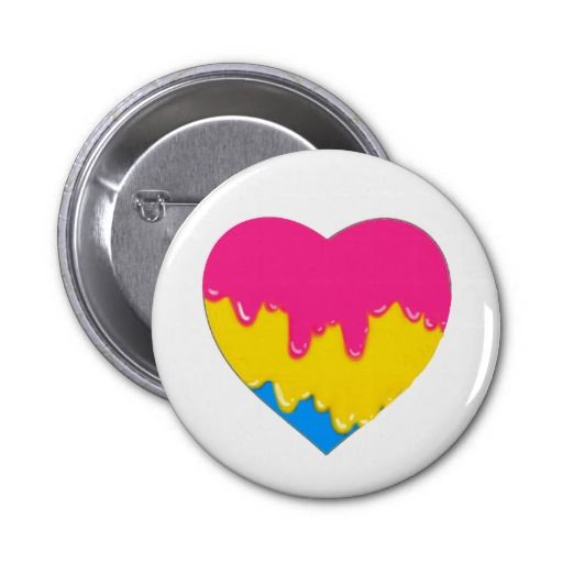 pansexual heart; part of a series.