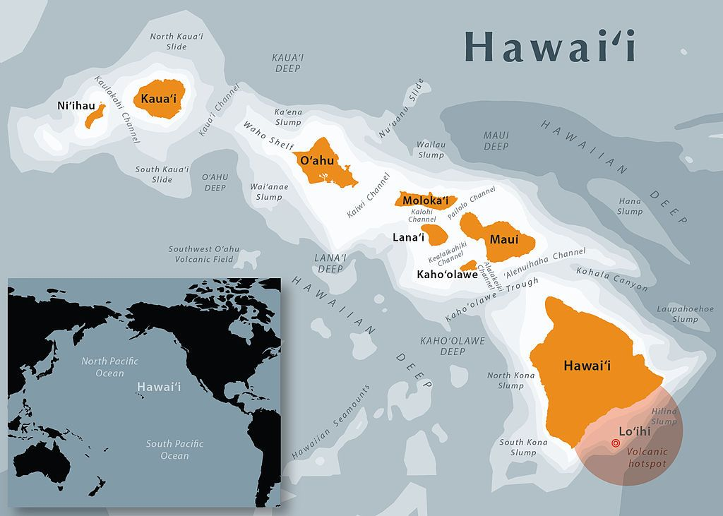 Hawaii State Map Hawaii graphics