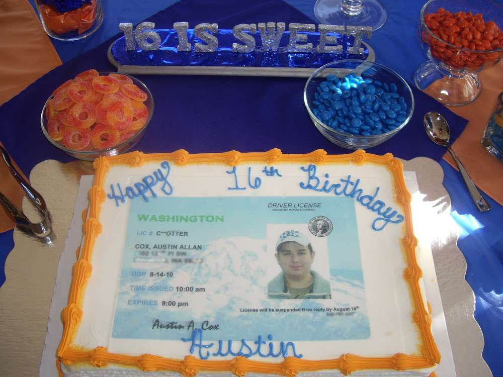Driver S License Birthday Party Ideas Sweet Birthdays