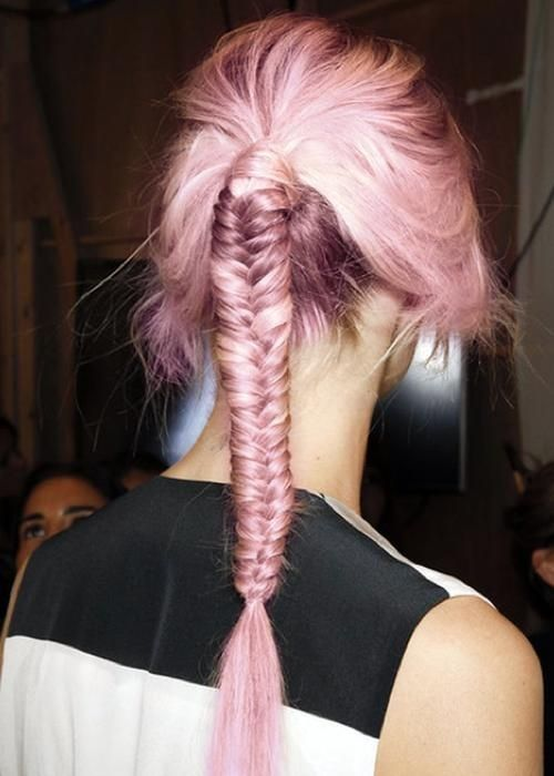 Unique Pink fishtail Top Search - Amazing herringbone braid