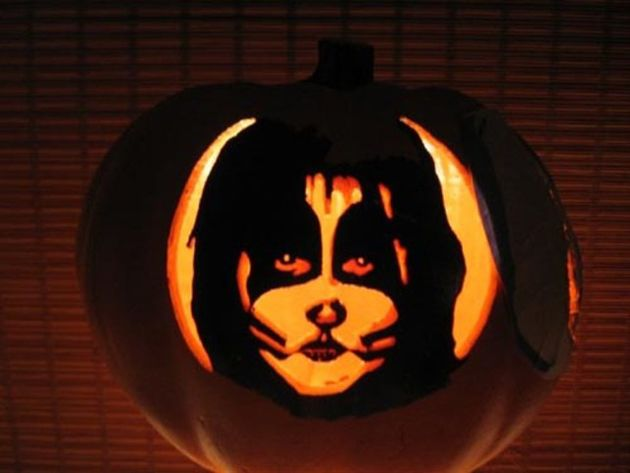 pumpkin carving stencils kiss - google search | diys & crafts