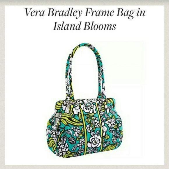 Vera Bradley Frame Bag in island blooms Brand new Vera Bradley Frame ...