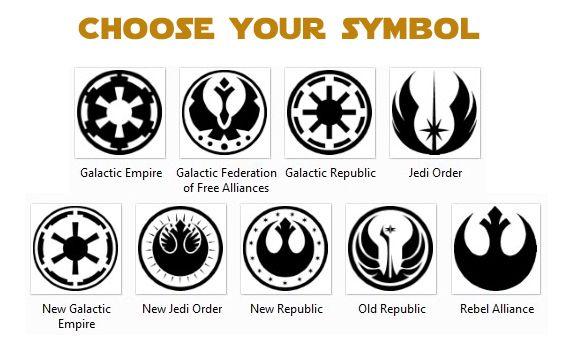 choose wisely star wars galactic empire rebel alliance vinyl sticker