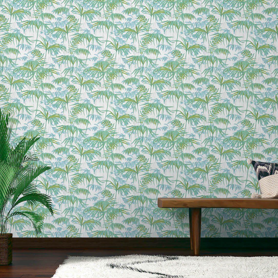 Decoller Papier Peint Intissé papier peint amazonia, vinyle sur intissé exotique, vert