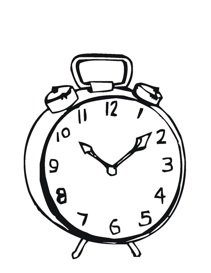 Free Printable Clock Coloring Pages For Kids Alarm Clock Clock Coloring Pages For Kids