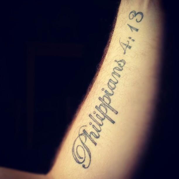 40 Philippians 4 13 Tattoo Designs For Men: Tattoos Of Philippians 4 13 - Google Search