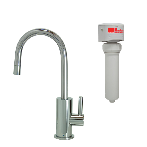 Point Of Use Drinking Faucet With Contemporary Round Base Handle