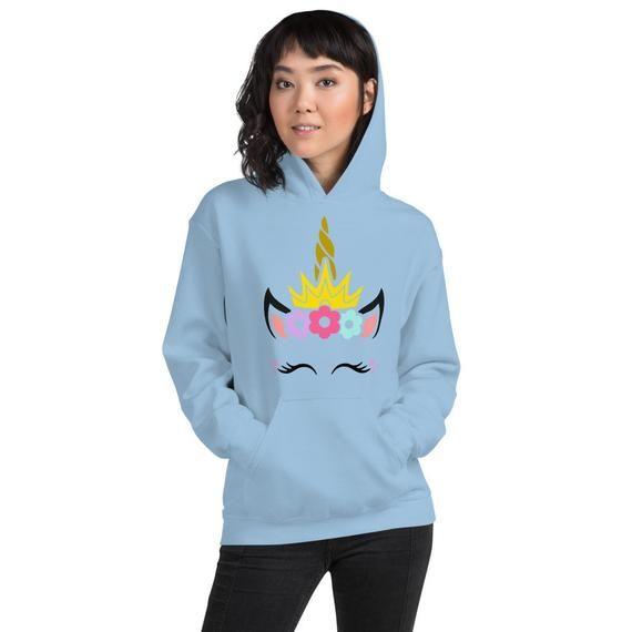 Unicorn Flower Crown Unisex Hoodie