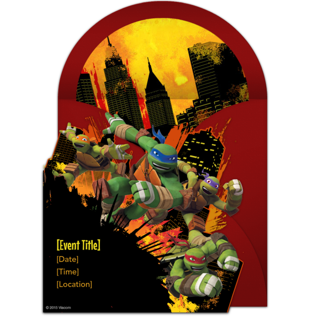 A Great Free Birthday Party Invitation Featuring Teenage Mutant Ninja Turtles Design We Love This For Inviting Friends To TMNT