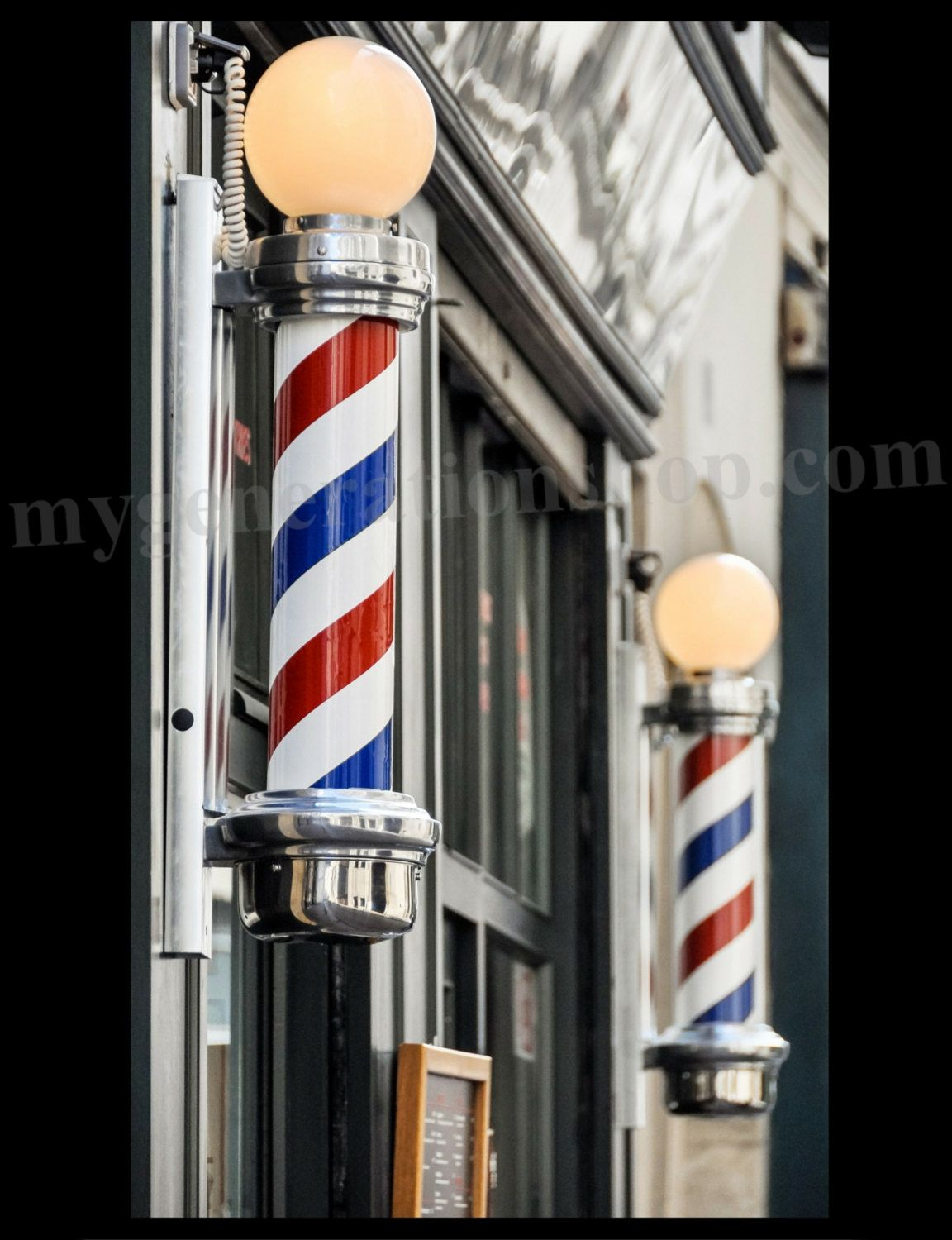 Barber Shop Poles Poster by MyGenerationShop on Etsy