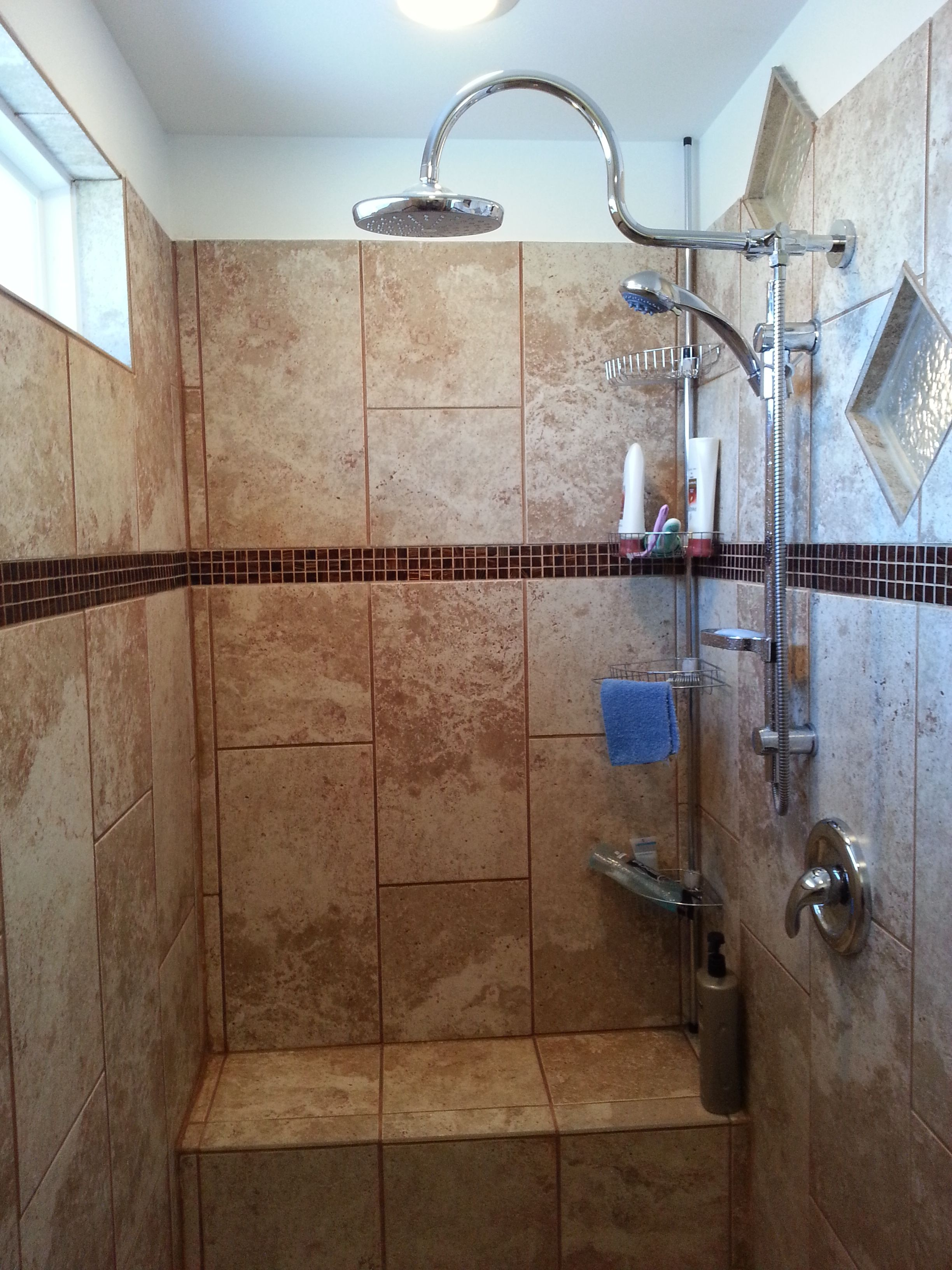 "7 x 3 6"" walk in shower walk in showers Pinterest"