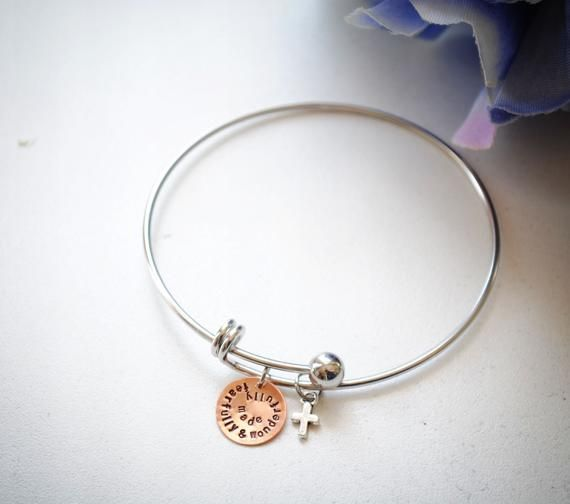 Psalm 139 Charm Bangle Bracelet Stainless Steel Bracelets With Charms Metal