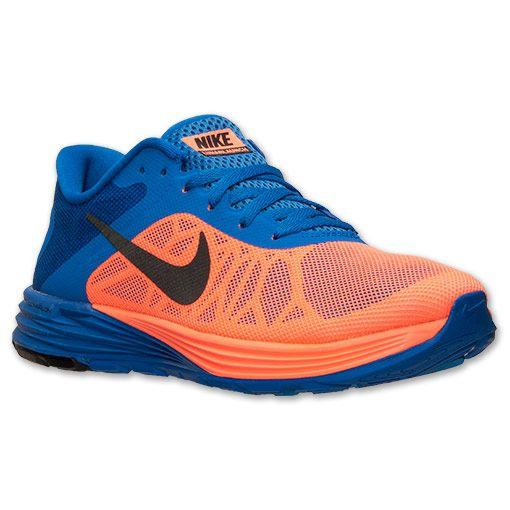 Women's Nike LunarLaunch Running Shoes   Finish Line   Bright Mango/Black/Hyper  Cobalt