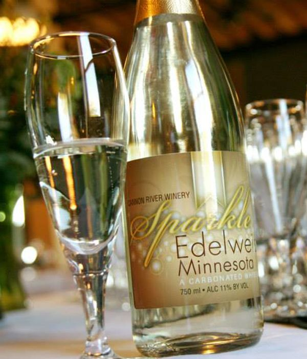 Cannon River Winery's Sparkle Edelweiss is the first sparking wine made in Minnesota!