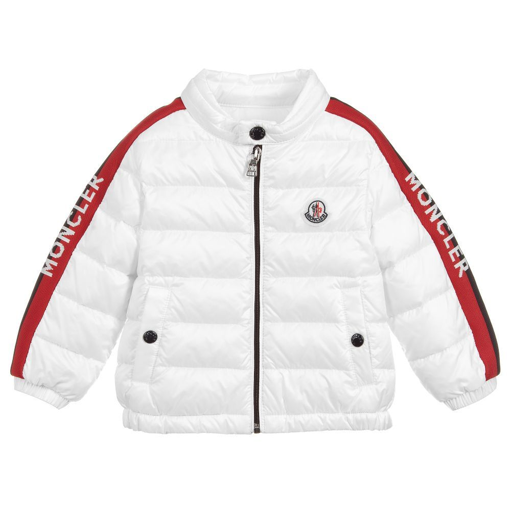 6fa1a214b White puffer jacket for little boys by luxury brand Moncler, padded ...
