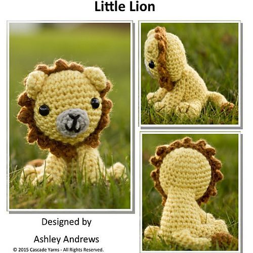 """Little Lion - Free Amigurumi Crochet Pattern - PDF Version click """"download"""" or """"free Ravelry download"""" here: http://www.ravelry.com/patterns/library/little-lion-4"""