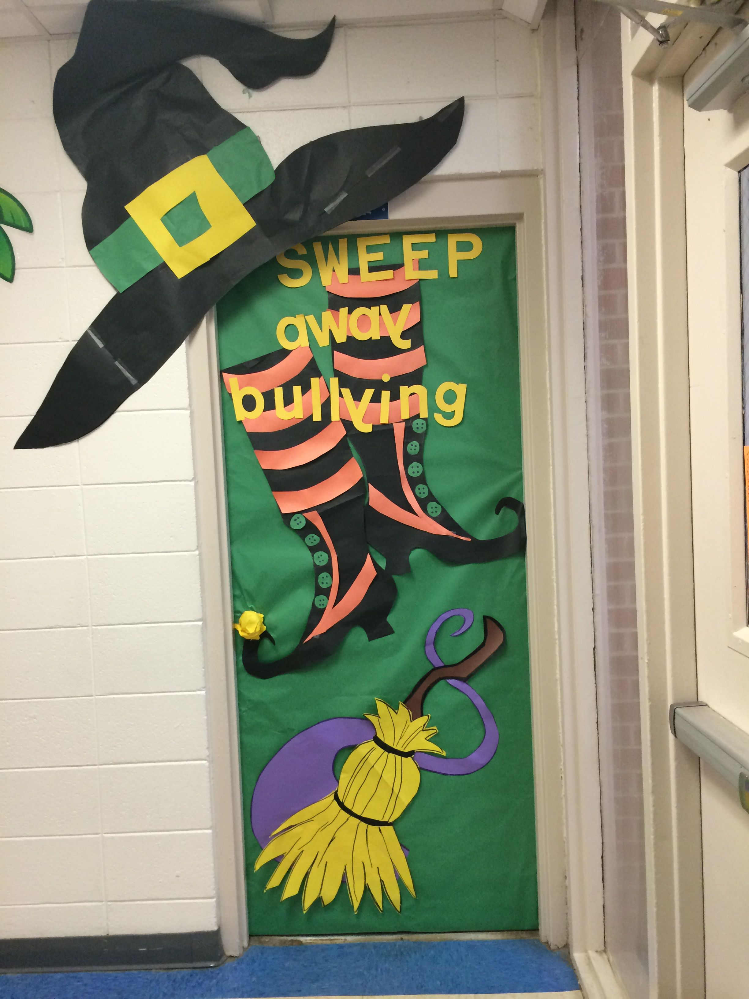 Door decoration halloween anti bully | Things for school ...