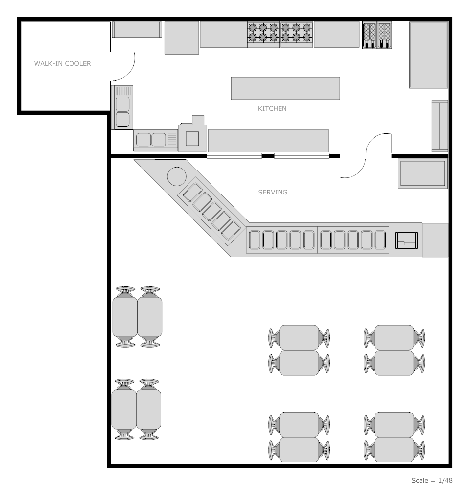 Restaurant floor plans templates - Create Floor Plan Examples Like This One Called Restaurant Kitchen From Professionally Designed Floor Plan Templates Simply Add Walls Windows Doors