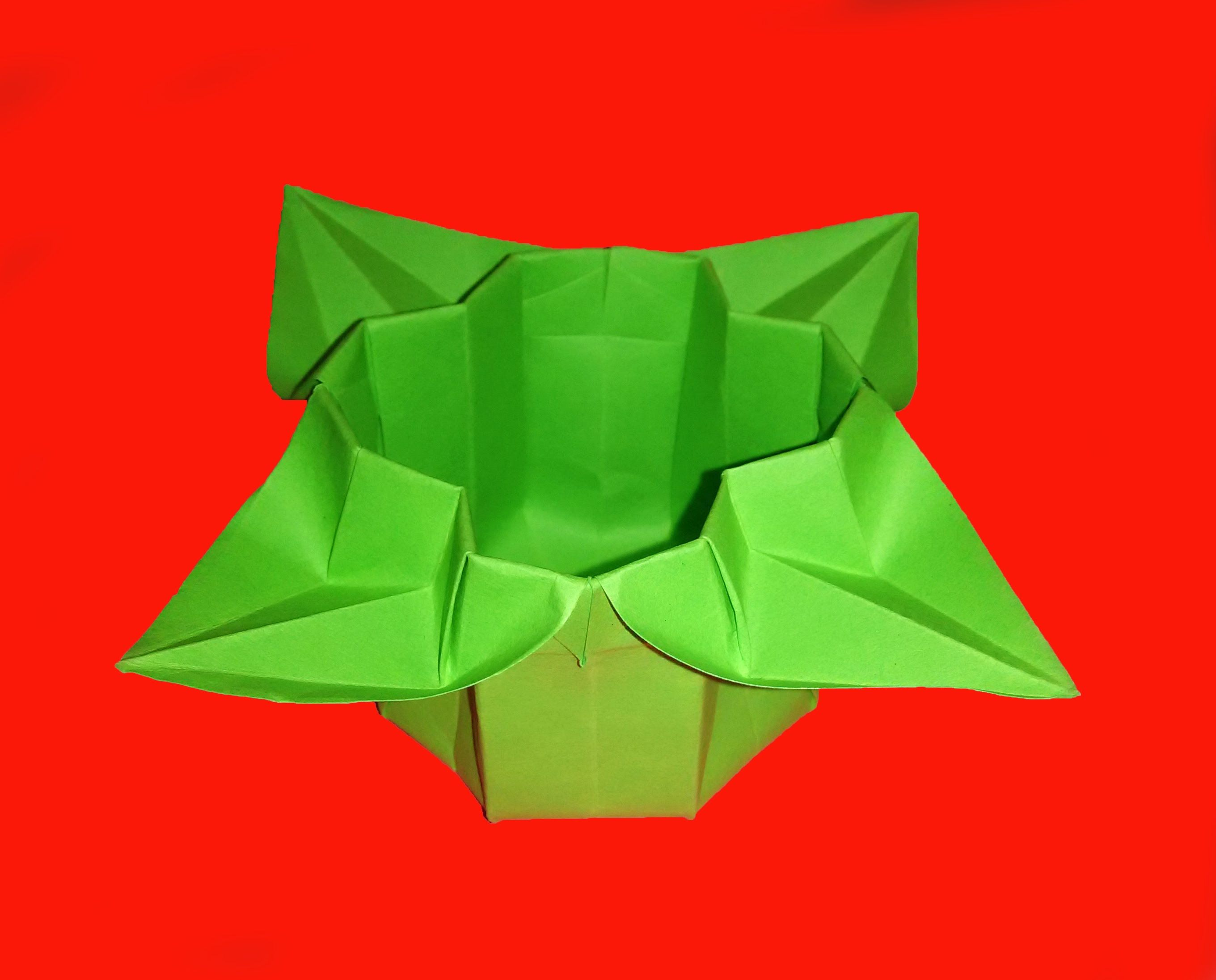 Easter flower box origami basket cup easter flower box origami basket cup mightylinksfo