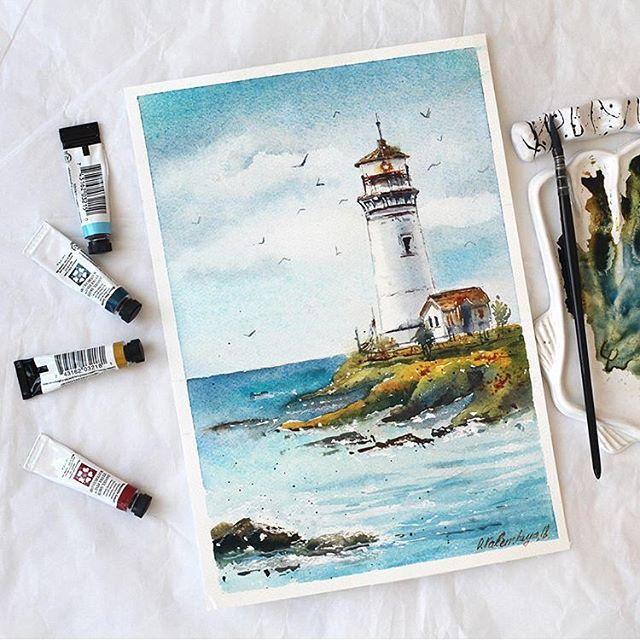 "@dailyartposts.s's Instagram post: ""Lighthouse by"