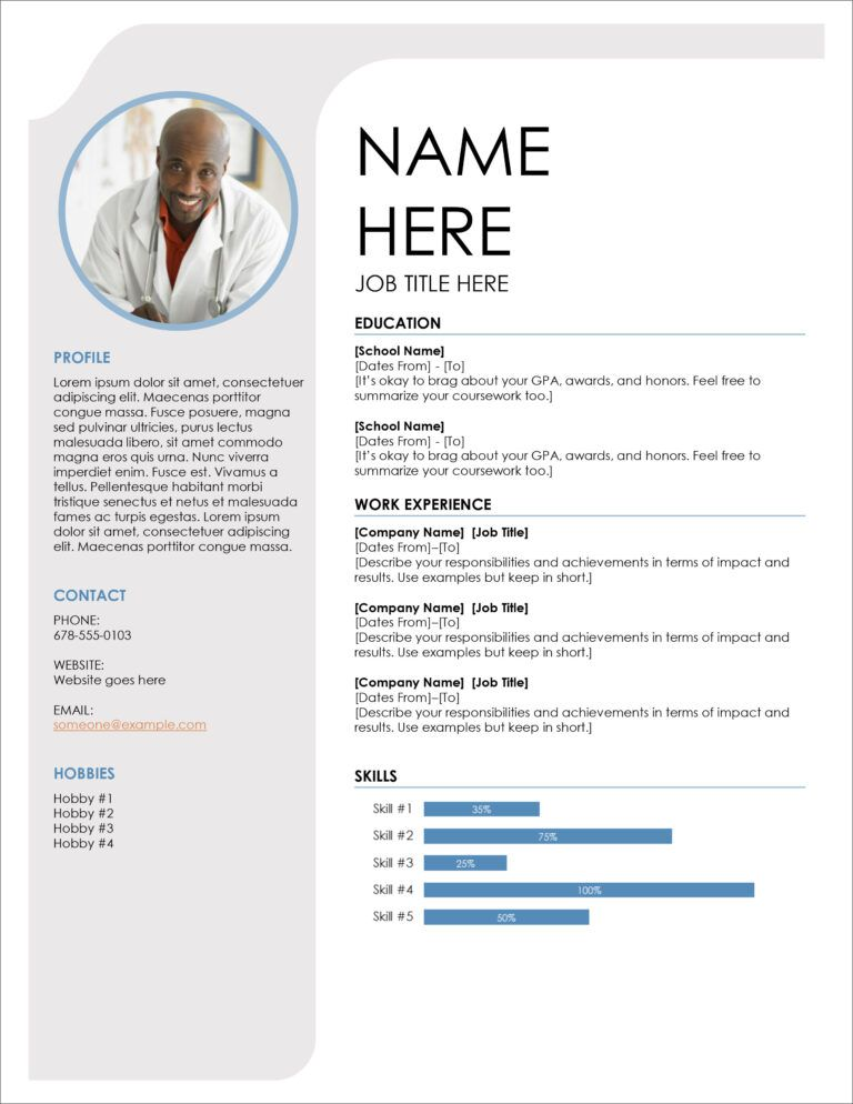 004 Curriculum Vitae Templates Microsoft Word Cv Pattern 2 Inside