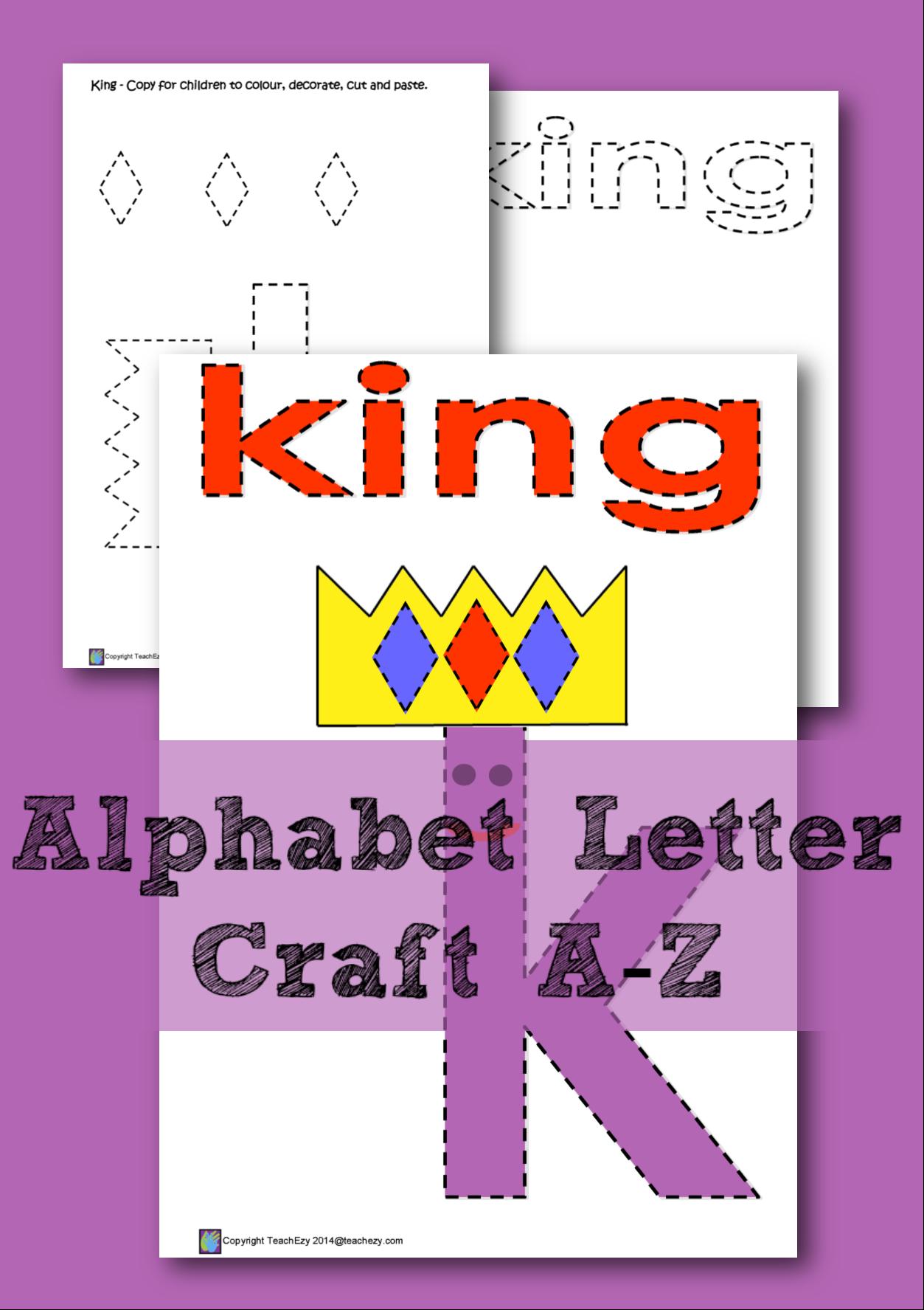 Alphabet Letter Craft Learning The Letter K