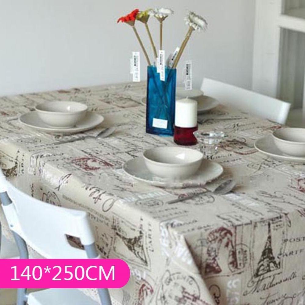 Flower Pattern Linen Cotton Lace Tablecloth Oven Computer Sofa Desk Cover Decor