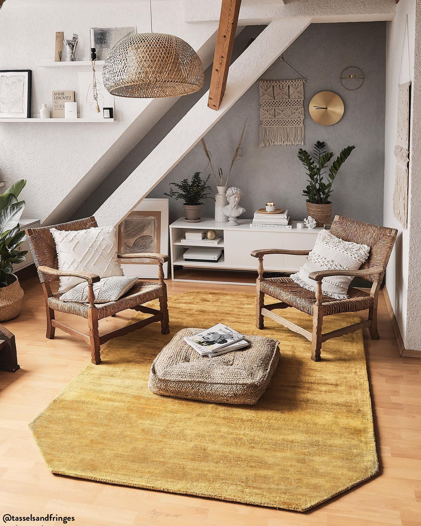 Tappeto in viscosa Jane Diamond Design per il soggiorno