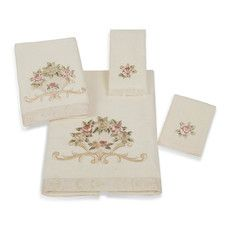 Rose Fan 4 Piece Towel Set