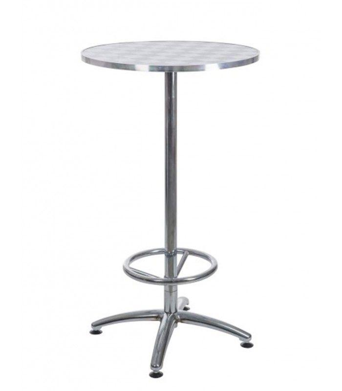 Table Bar Haute table haute de bar style usine en bois et métal noir ajustable