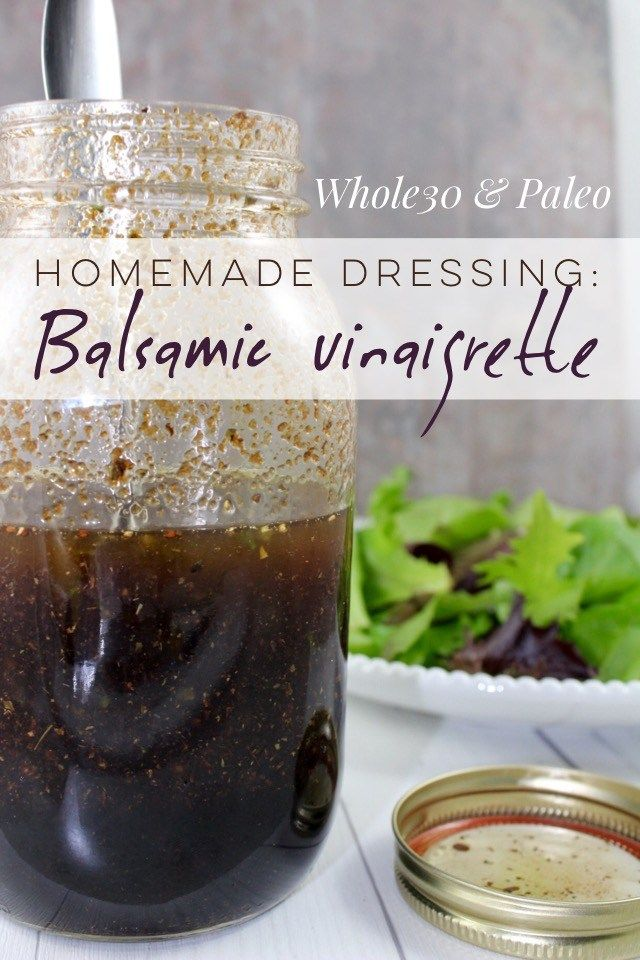 Healthy homemade balsamic dressing