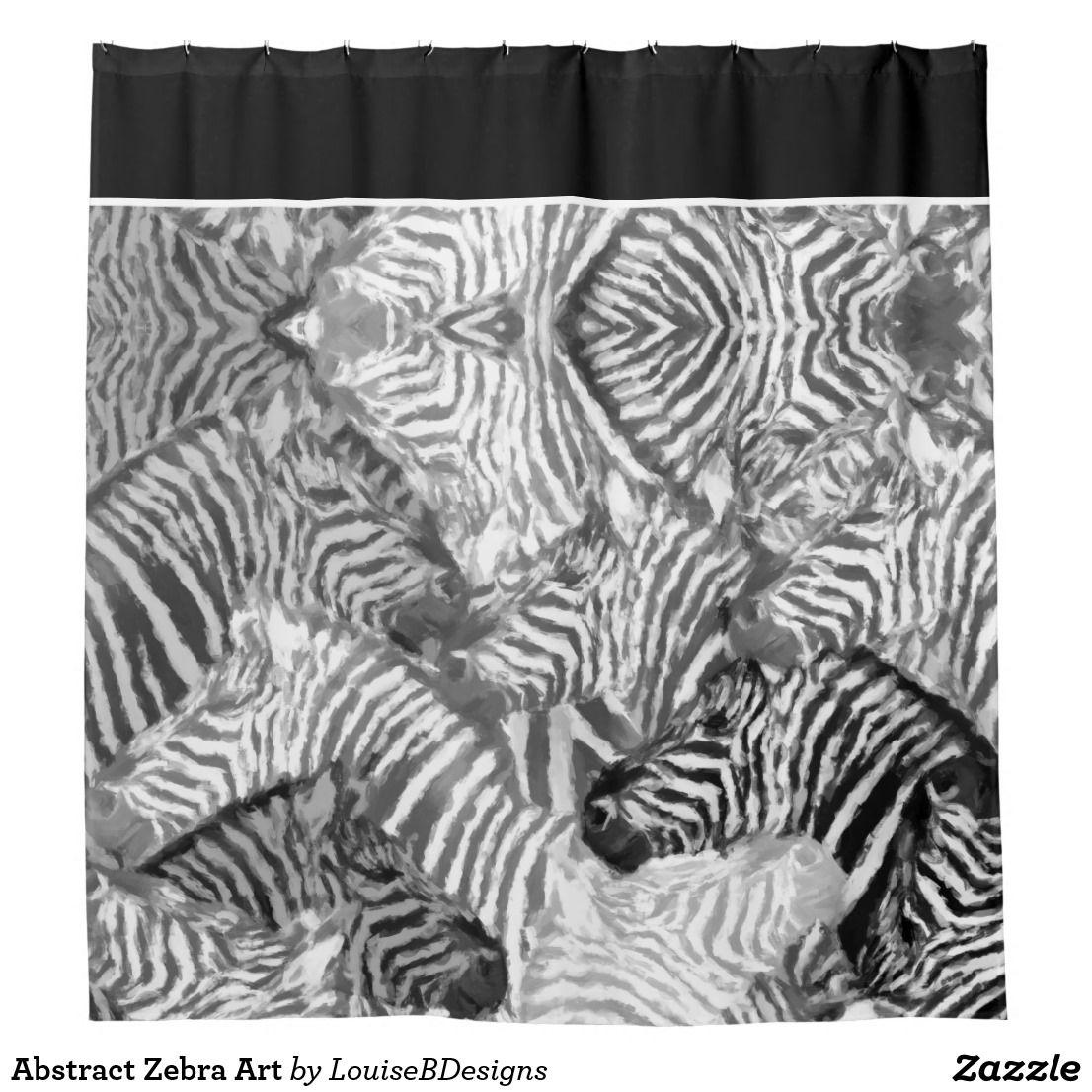 Abstract zebra art shower curtain zebra art