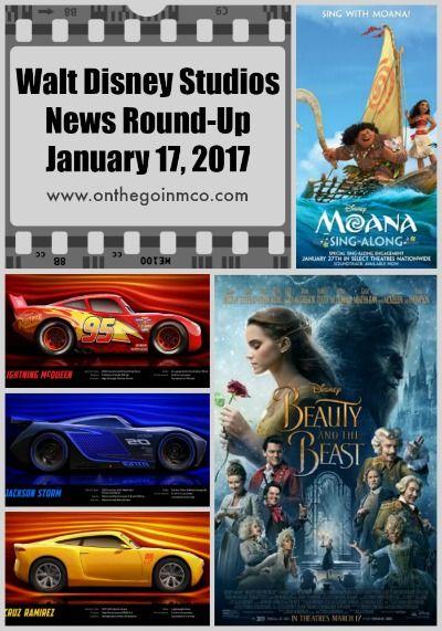 Walt Disney Studios News Round-Up January 17 2017 with Moana, Cars 3, & Beauty and the Beast news!