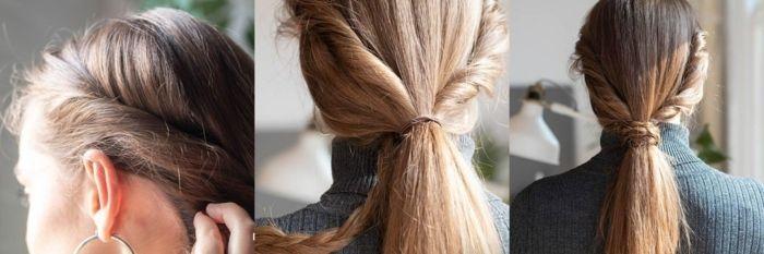Perfecto ideas en 5 minutos peinados Fotos de consejos de color de pelo - 1001 + ideas de peinados fáciles y rápidos para hacer en 5 ...