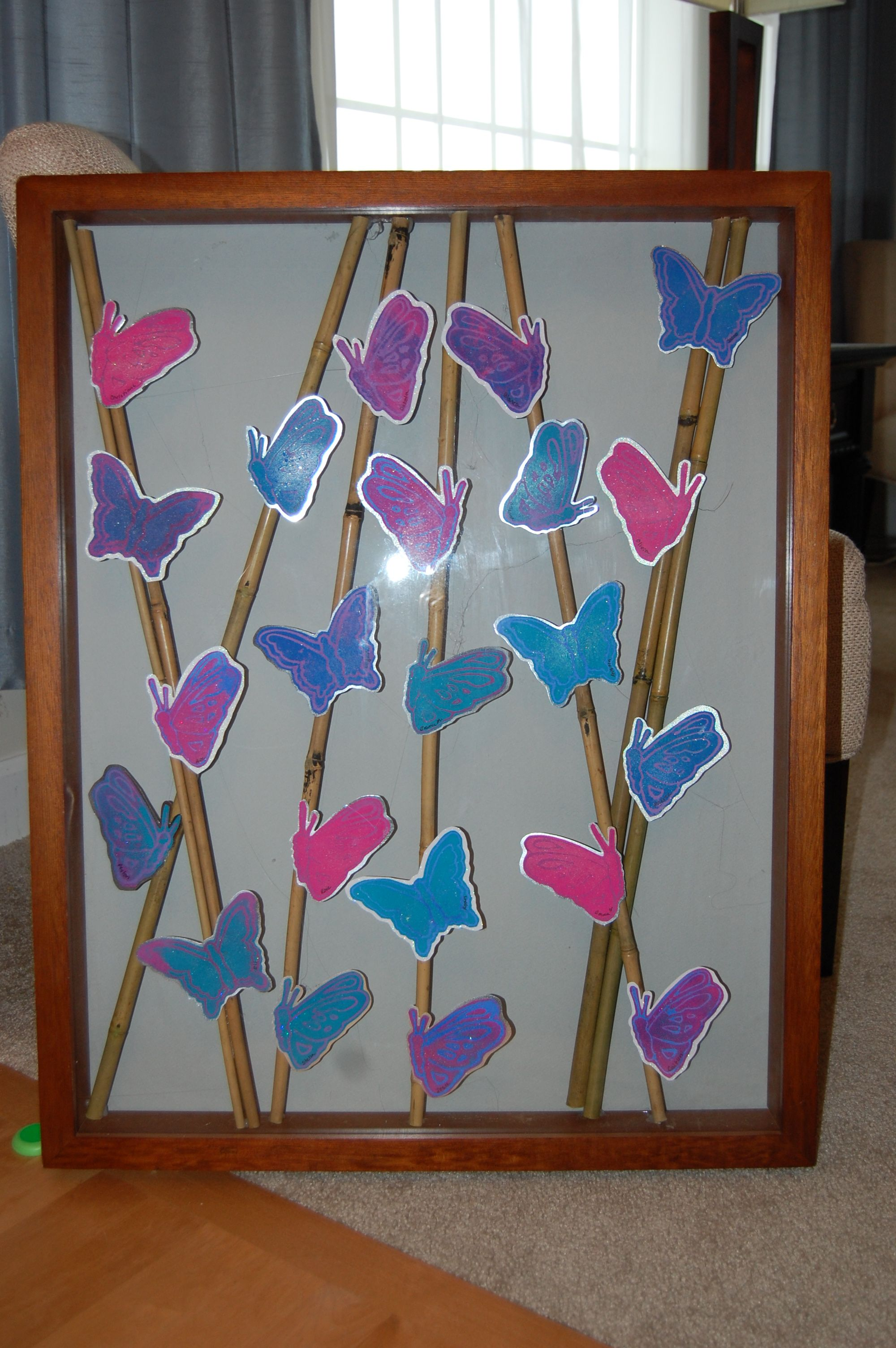 Butterflies And Bamboo 2nd Grade Class Auction Project Bamboo