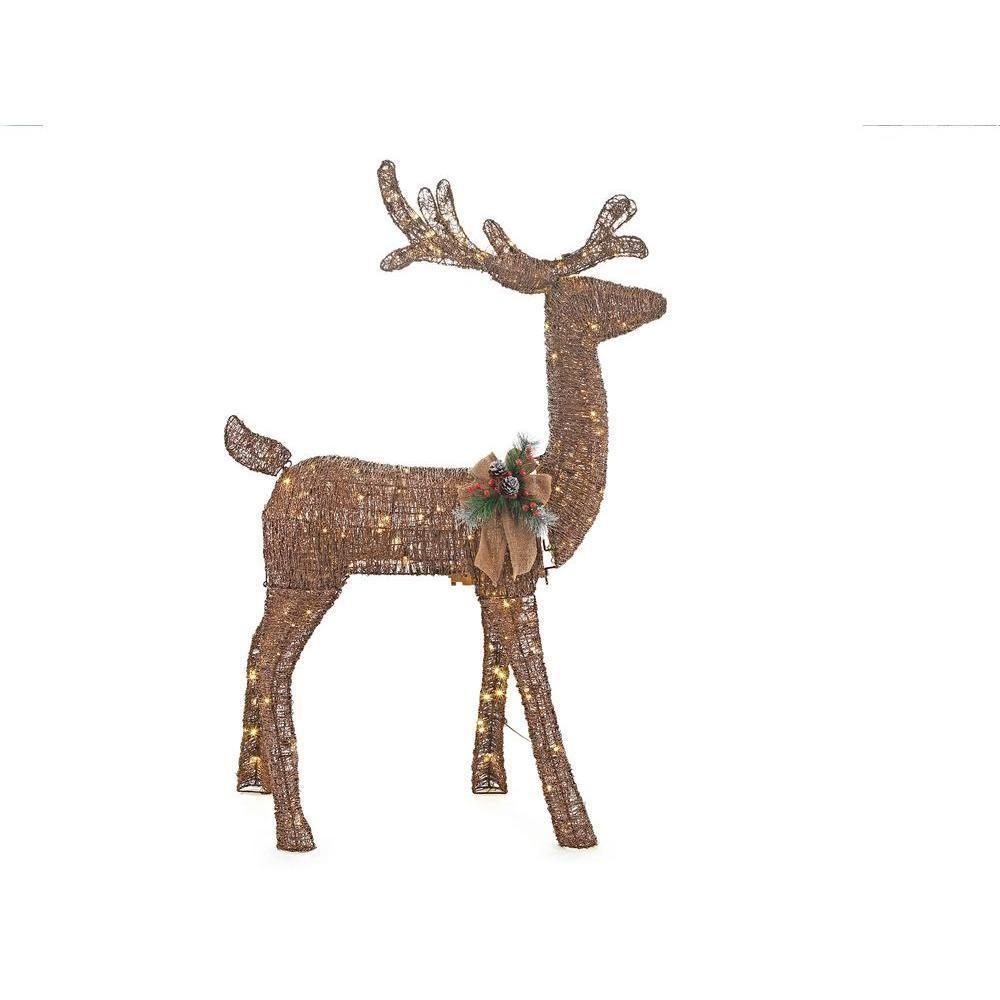 Rustic Christmas Indoor Outdoor 60 Lighted Reindeer Deer Buck Yard Lawn Decor Unbranded
