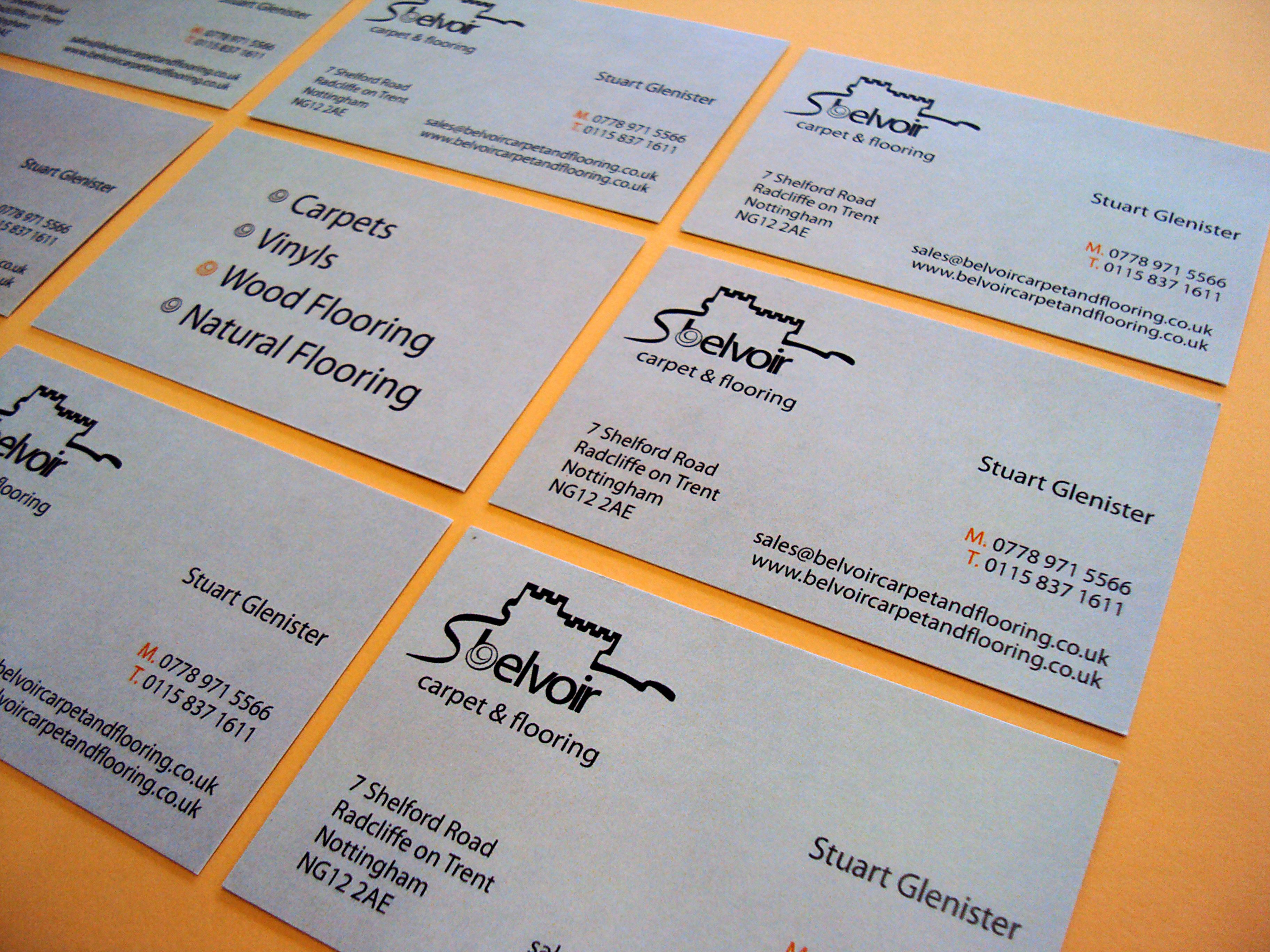 business cards designed and printed by minuteman press nottingham