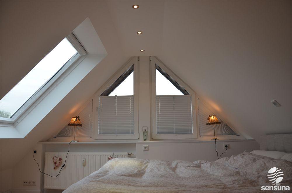 plissee faltstores auf f r dreieckige fenster gibt es bei uns im onlineshop hier zu sehen. Black Bedroom Furniture Sets. Home Design Ideas