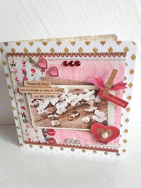 Carte double 3d st valentin carte anniversaire mariage
