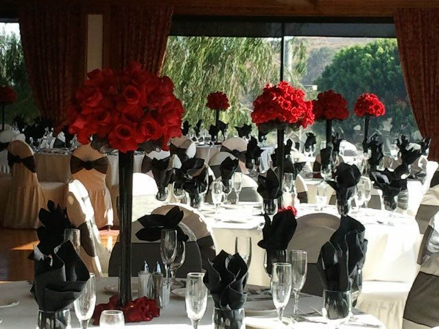 Image Result For Black Eiffel Tower Vases With Red Roses Hollywood