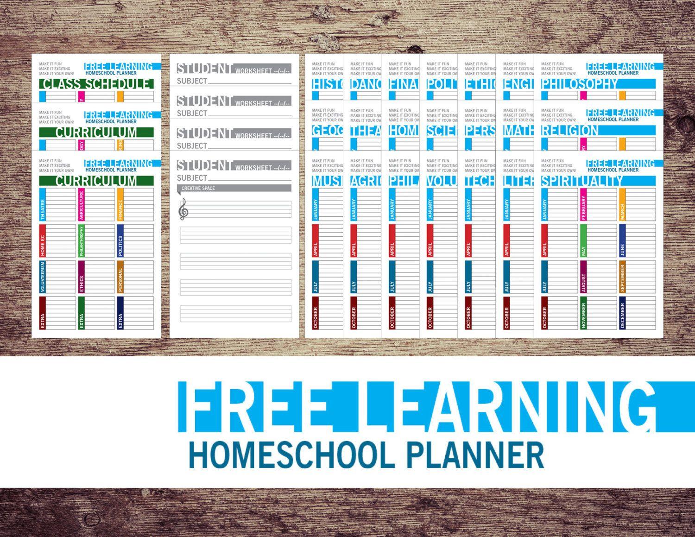 Free Learning Homeschool Planner Printable By TheWookieWorkshop On