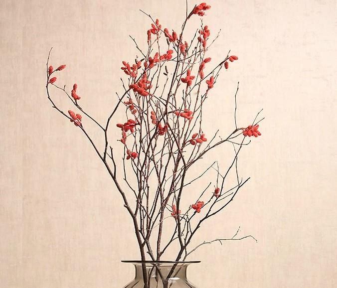 Artificial Flowers And Twigs Home Decorating Ideas