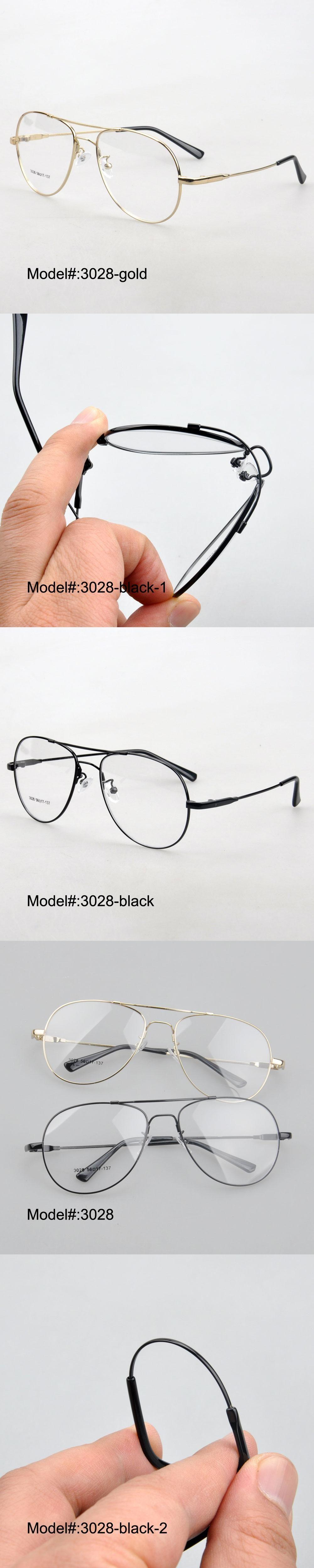 3028 full rim men\'s style memory metal RX optical frames myopia ...