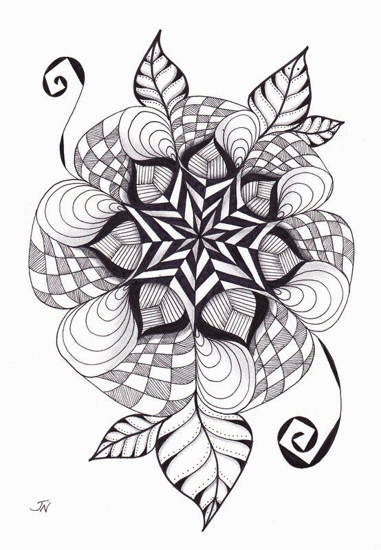 original art aloha mandala hand drawn by
