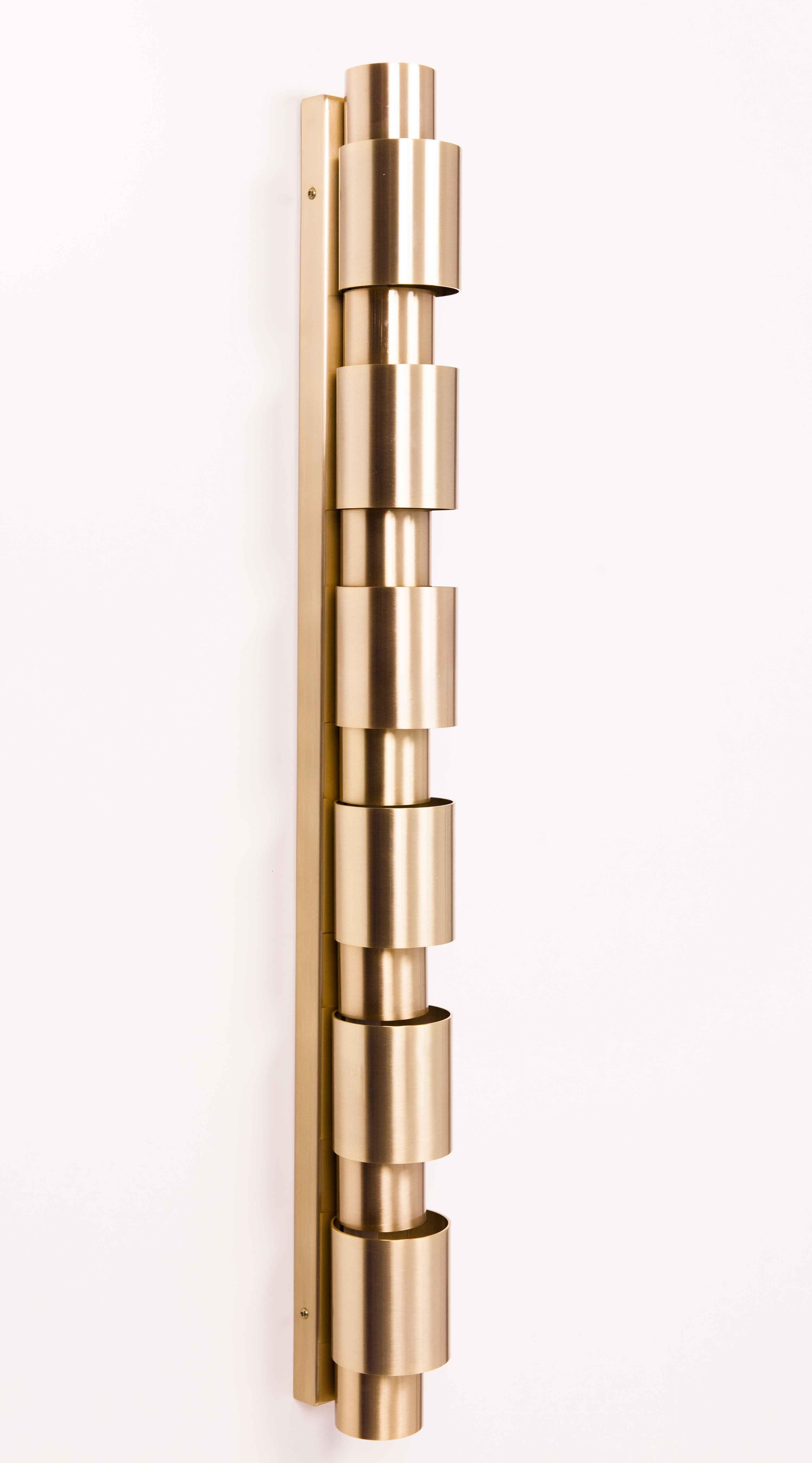 Aplique De Pared Vintage Cilindro Aros Dorado Amneris Aros Dorados Apliques De Pared Cilindro