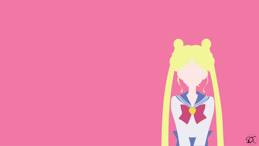 Sailor Moon Usagi Minimalist By Stellacris Deviantart Com On Deviantart Sailor Moon Aesthetic Sailor Moon Wallpaper Sailor Moon Art