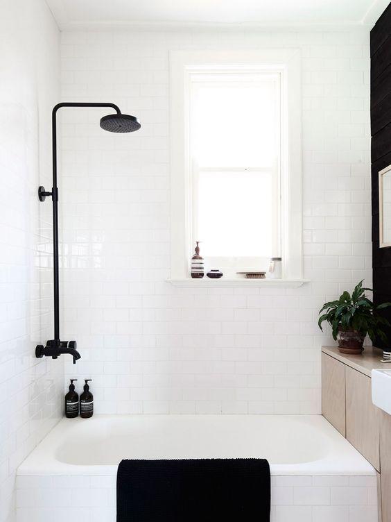 Schwarz Weiß Bad schwarz weiss bad minimalismus wohnen interieur schwarz weiss