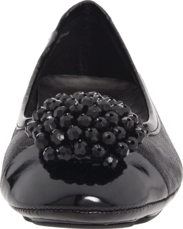 Amazon.com: AK Anne Klein Womens Bauble Ballet Flat,Black Text,6 M US: Shoes